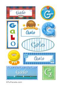 Galo, nombre para stickers