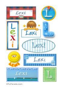 Lexi, nombre para stickers