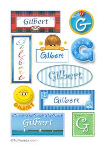 Gilbert, nombre para stickers