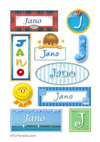 Jano, nombre para stickers
