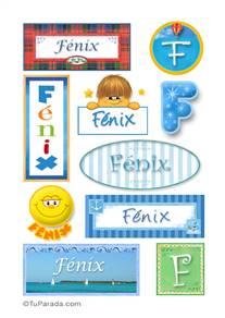 Fénix, nombre para stickers