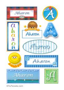 Aharon, nombre para stickers
