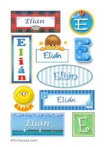 Elián, nombre para stickers