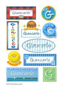 Giancarlo, nombre para stickers