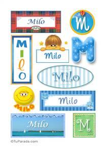 Milo, nombre para stickers