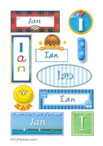 Ian, nombre para stickers