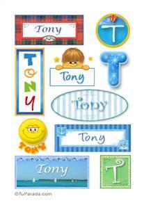 Tony, nombre para stickers