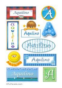 Aquilino, nombre para stickers