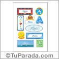 Alois, nombre para stickers