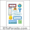 Ticiano, nombre para stickers
