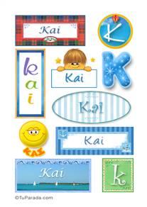 Kai, nombre para stickers