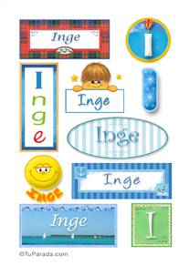 Inge, nombre para stickers