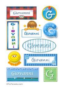Giovanni, nombre para stickers