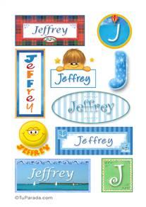 Jeffrey, nombre para stickers