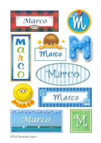 Marco, nombre para stickers