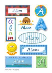 Alam, nombre para stickers