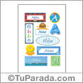 Abba, nombre para stickers