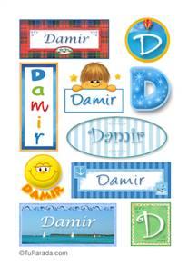 Damir, nombre para stickers