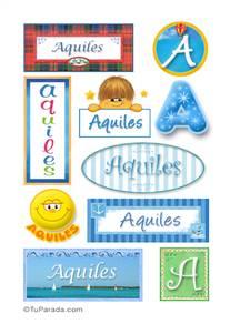 Aquiles, nombre para stickers
