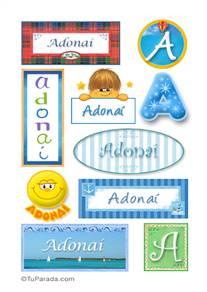Adonaí, nombre para stickers