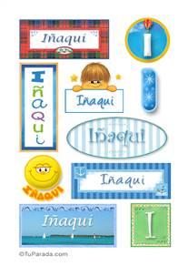 Iñaki, nombre para stickers