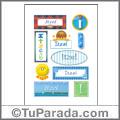 Itzel, nombre para stickers