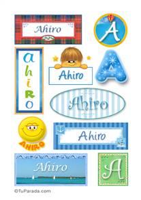 Ahiro, nombre para stickers