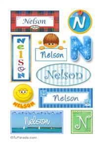 Nelson, nombre para stickers