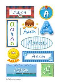 Aarón, nombre para stickers