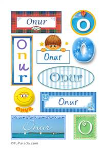 Onur, nombre para stickers