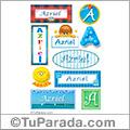 Azriel, nombre para stickers