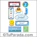 Josef, nombre para stickers
