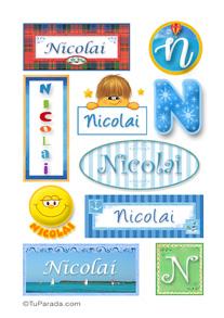 Nicolai, nombre para stickers