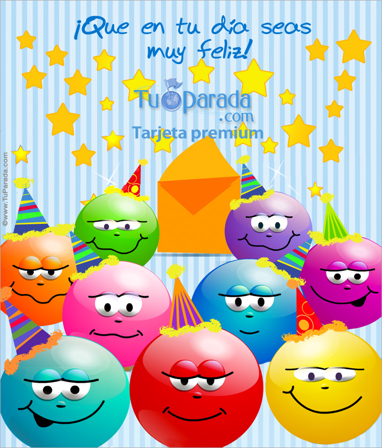 Tarjeta - Tarjeta expandible: Feliz cumpleaños