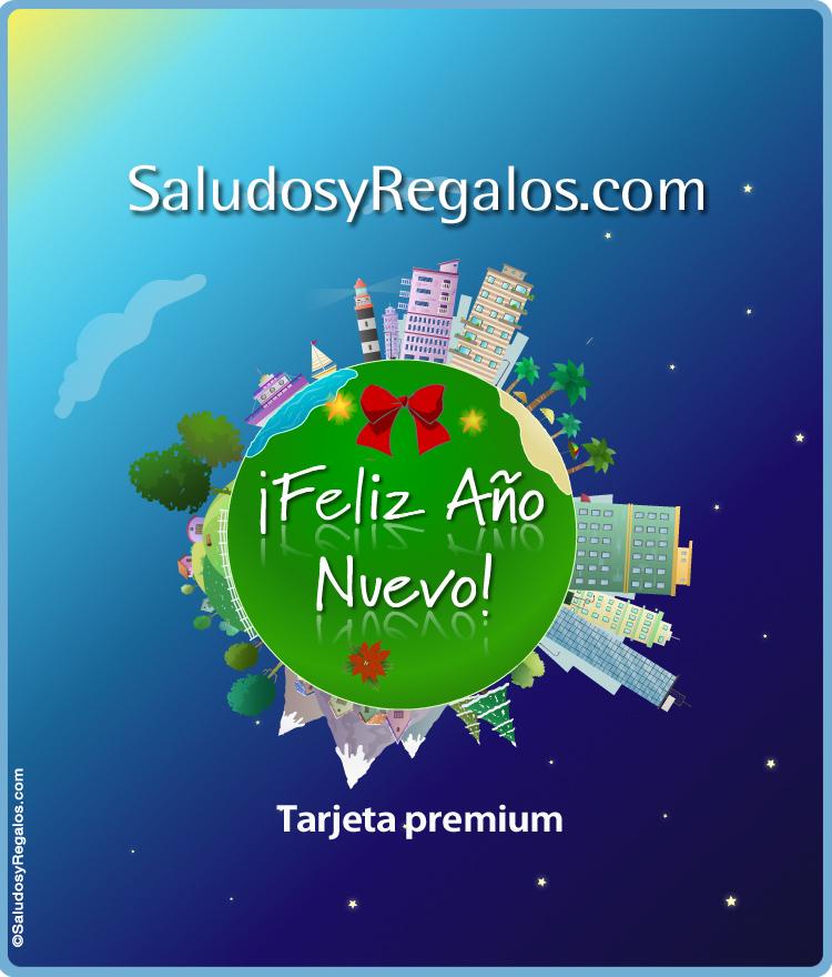 Tarjeta - Feliz año, tarjeta expandible