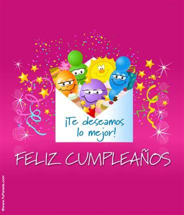 Tarjeta expandible: Cumpleaños con globos