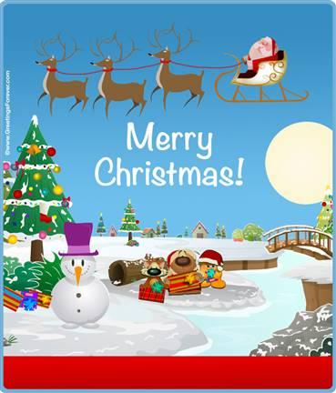 Expandable eCard: Merry Christmas