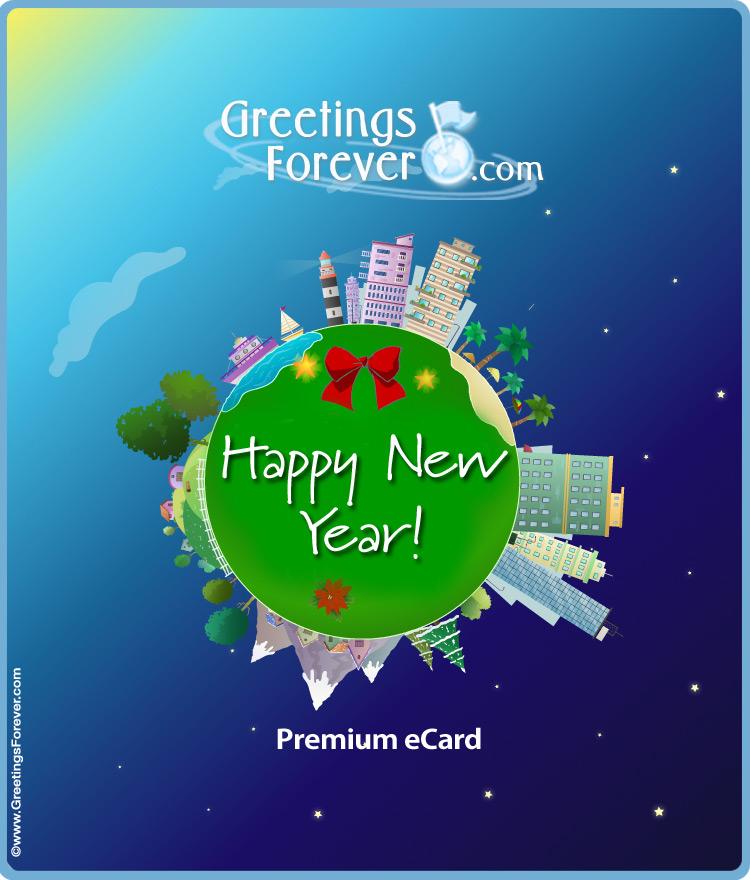 Ecard - Expandable eCard: Happy New Year