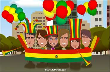 Tarjeta de Fiestas de Bolivia