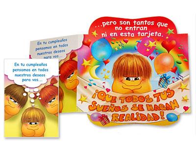 Tarjeta troquelada  de cumpleaños - TR10
