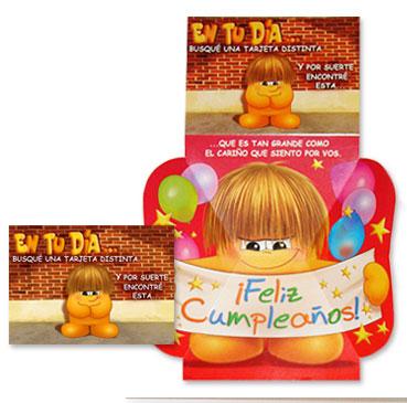 Tarjeta troquelada de cumpleaños TR16: En tu día...