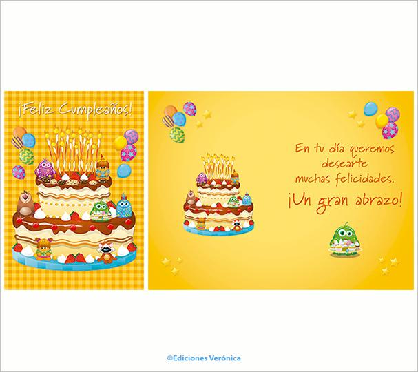 Tarjeta de cumpleaños - D506