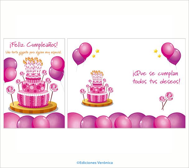 Tarjeta de cumpleaños - D502