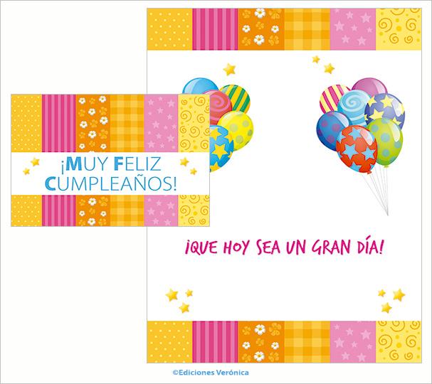 Tarjeta de cumpleaños - D511