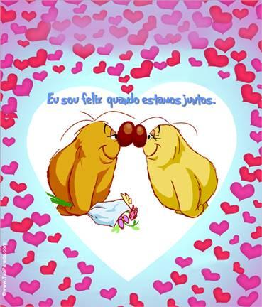 Cartão expansível de amor