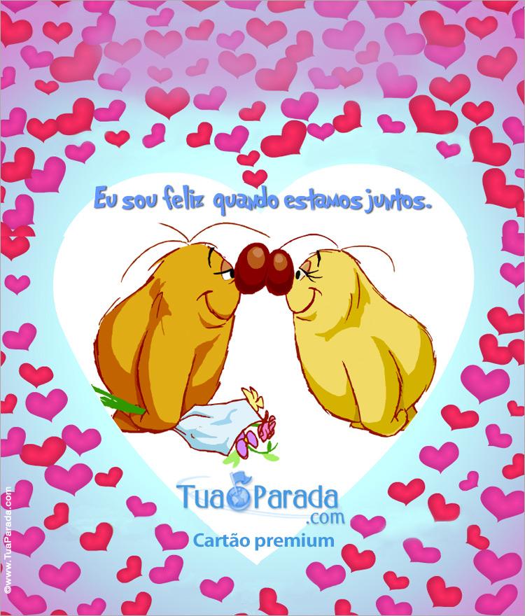 Cartão - Cartão expansível de amor