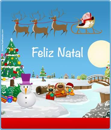 Cartão expansível: Feliz Natal