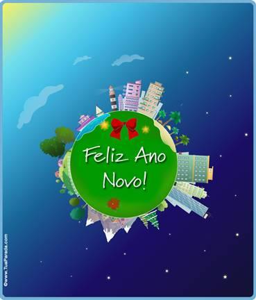 Cartão expansível: Feliz Ano Novo