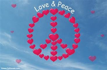 Tarjeta Love and Peace