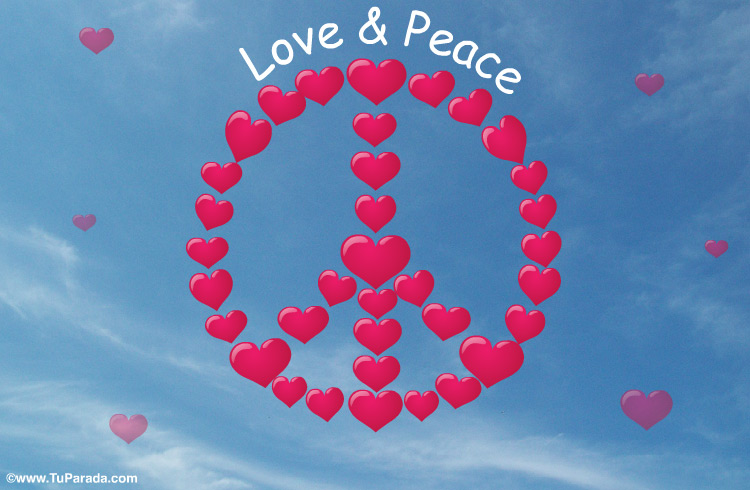 Tarjeta - Tarjeta Love and Peace
